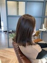 ティルヘアー(TiLL HAIR)ビフォーアフター 白髪隠し ショコラブラウン ツヤ髪