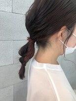 ヘアメイク アプト コンビネーション(HAIR MAKE apt combination)インナーオレンジ編みおろし