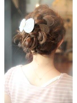 結婚式 髪型 ミディアム ヘアアレンジ ミディアム×編み込みアレンジ★