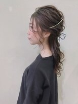 ピエドプールポッシュ(PiED DE POULE POCHE)* arrange hair * × スエードリボン