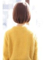 デイジー バイ ハピネス(daisy by happiness)*Tomo* ことりベージュ 毛先パーマ 黒髪 30代 40代