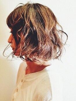 ヘアアンドスパ ケー(Hair&spa K)の写真/【神田駅徒歩3分】初めてのエアウェーブも安心!綿あめのようなふんわり柔らかい女性らしいスタイルに♪