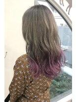ヘアーサロン エール 原宿(hair salon ailes)(ailes原宿)style411 スモークミルクティ×パープル