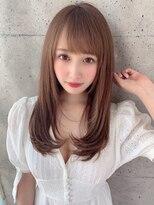 アフロート ルヴア 新宿(AFLOAT RUVUA)顔まわりの小顔抜け感スタイル☆#ブランジュ#ダブルバング