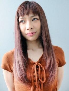 エミュー 古河店(emu)の写真/《スタイリストカット+縮毛矯正¥10800》思わず触れたくなる柔らかさ◎クセを伸ばして美シルエットへアに♪
