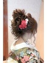 ヘアメイク シュシュ(Hair make chou chou)着物和装ウェディングスタイル【chou-chou 北林夏実】