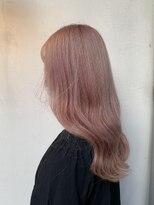 ヘアー アイス カンナ(HAIR ICI Canna)ペールピンクベージュ×イルミナカラー