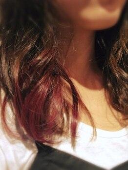 ヘアアンドライフ ソエル(Hair&Life soeLu)の写真/ダメージレスで理想のStyleが叶う!デザインカラーはお任せ☆透け感とヌケ感や個性を活かしたカラー♪
