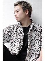 アイリーヘアデザイン(IRIE HAIR DESIGN)【IRIE HAIR赤坂】ハイトーン×ワイルドアップバング×短髪