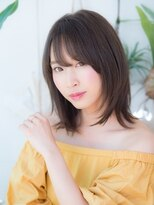 オーブ ヘアー アクネ 長岡京店(AUBE HAIR acne)ミディアムレイヤースタイル