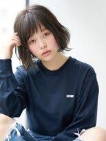 エアー ギンザ(air-GINZA)薄め前髪ボブ×モノトーンアッシュカラー