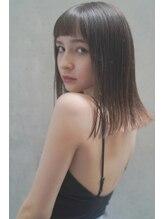 レジュアル(RESSUAL)前髪 くびれミディ イヤリングカラー ラベンダーカラー