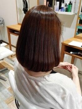 ヘアメイク ショコラ(Hair Make chocolat)の写真/通常のストレート、縮毛矯正よりもワンランク上の輝きと質感を!!