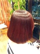 アンバー ヘアー クリエイト(Amber Hair Create)酵素ストレート+ヒアルロン酸カラー 【千葉】 【千葉中央】