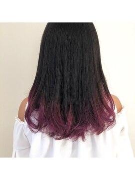 ヘアーアンドメイク ブロッサム 志木南口店(HAIR&MAKE Blossom)グラデーションカラー ピンクグレープ♪≪カラーリスト本間≫