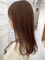 ロッジ 原宿店(RODGE)【nana】オレンジベージュ 艶カラー 髪質改善