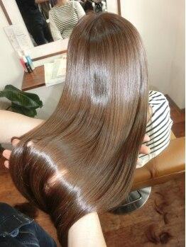 ブルームヘア 大宮(Bloom hair)の写真/【大宮駅東口】最新技術『Wストカラートリートメント』カラー&ストレートと同時にTrでダメージ修復。