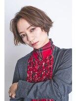 ミンクス 銀座二丁目店(MINX)【MINX木俣】ハンサムエアリー毛先パーマショート