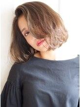 ヘアーワークス ヘルム 渋谷店(HAIR WORKS HELM)[HELM渋谷]抜け感デザインカラー×ナチュラルミディアム