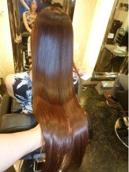 ヘアエステサロン ナチュール(Nature)の写真/エステカラーで思わず自慢したくなる憧れの髪美人に♪しなやかで艶々の美髪になれると評判◎リピーター多数
