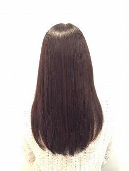 セラヴィ フー(C'EST LA VIE FUU)の写真/【薬剤を使わないストレート!!】傷んだ髪を重点的にケアするから、憧れサラ艶ストレートヘアが叶う★