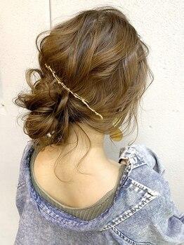 ヘアセットアンドメイクアップ シュシュ(Hair set&Make up chouchou)の写真/朝7時OPEN!![洋セット¥2100~・和セット¥2800~]結婚式/二次会/ライブ/デートに特別なアレンジを☆