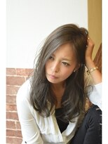 ヘアー ワンアビル(Hair One Abile)【Abile】モードネイビーカラー・ゆるふわ小顔セミディ☆