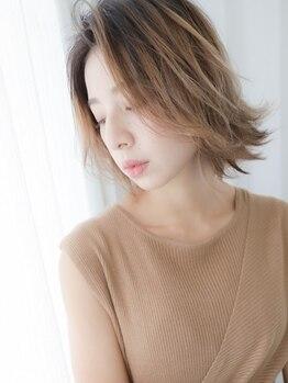 ハマユミバ(HAMAYUMIBA beauty salon)の写真/好みのカラーにすると傷む…そんな思いとは今日でサヨナラ!ワンランク上の髪をいたわるカラーリング♪