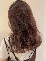 ラフィネ(raffine)可愛いピンクチョコレートカラー×艶髪★美人髪raffine中村大輔
