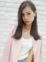 アンジェリカ ハラジュク(Angelica harajuku)【Angelica 白石研太】 グレージュカラーセミロング