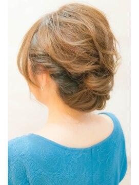 結婚式の髪型(ヘアアレンジ)  ロールアップクラシカル