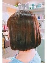 ヘアサロンアンドリラクゼーション マハナ(Hair salon&Relaxation mahana)ショコラブラウンで秋を先取り♪クラシカルボブスタイル!