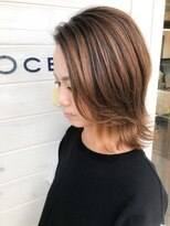 オーシャン ヘアアンドライフ(OCEAN Hair&Life)[OCEAN Hair&Life]切りっぱなし☆ハイライトカラー☆濡れ髪☆