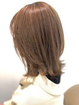 """ボンド ヘア デザイン(BOND HAIR DESIGN)の写真/柔らかく上質な質感を作り出す""""透明感""""×ハイライトが作る""""魅せる立体感カラー""""が人気の秘密*"""