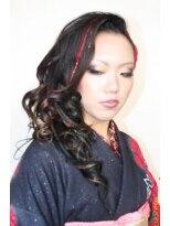 盛り髪(盛りヘア)の成人式仕様★セクシーセット&ショートブレイズ画像