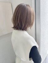 切りっぱなし☆くびれレイヤーボブ☆透明感ハニーベージュ横浜
