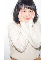 ミッカ(micca)【micca下北沢】☆ミディアムパーマ×暗髪アッシュ☆
