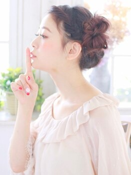 花やの前の美容室 国母店の写真/【ヘアセット】結婚式や2次会など、1日中可愛くいられるようモチのいいヘアセットが◎