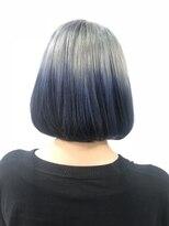 ヘアーサロン エール 原宿(hair salon ailes)(ailes 原宿)style413 シルバ-×ブルーグラデ