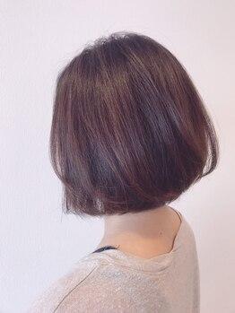 ルナディア(Lunadia)の写真/【繰り返しのカラーだからこそダメージレスに♪】髪/頭皮に優しいオーガニックで白髪染めでもお洒落に*