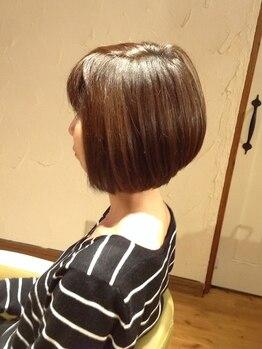 ブブグラスヘアーの写真/【電子トリートメントカラー¥9180~】ボロボロに傷んだ髪を内側から徹底ケア!憧れの艶髪カラーが叶う♪