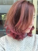 ヘアラビットハッチ(hair Rabbit hutch)軽めゆるふわ×毛先カラー