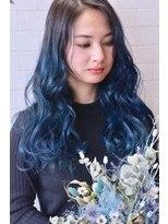 アトリエ ドングリ(Atelier Donguri)『髪質改善』acrylic color×blue