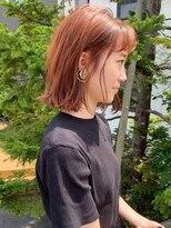ラパンセブルー(LA PENSEE BLEU)【LA PENSEE】オレンジブラウン 外ハネボブ 切りっぱなし 韓国