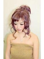 ヘアーサロン エール 原宿(hair salon ailes)(ailes原宿)style219トップノット☆ヴァイオレット