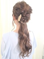ヘアセットアンドメイクアップ シュシュ(Hair set&Make up chouchou) 【L&c collection6】パーティポニーテールアレンジ