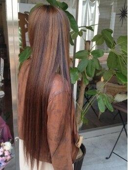 ヘアーサロン ニコ(HAIR SALON nico)の写真/【ノンダメージ縮毛矯正+CUT+ハホニコトリートメント¥14000】繰り返しかけても,ダメージレスでさらツヤに♪