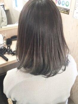 カラーファクトリーゴジュウゴ(color factory55)の写真/オリジナル薬剤使用の【ルミナンスカラー】今よりも髪を傷ませない、更に傷んだ髪を補修する魔法のカラー☆