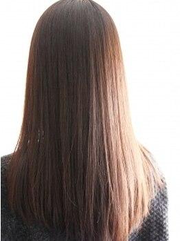 オアシスビューティ(Oasis beauty)の写真/【艶さら美髪が手に入る☆】オーガニックの薬剤を使用◎ダメージレスでやわらかく自然な仕上がりに♪