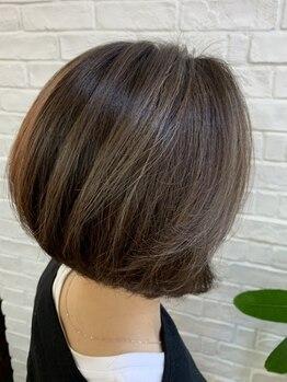 トハコ(&haco)の写真/オリジナル[グレンジカラー]で白髪をオシャレにカバー★白髪は隠さずに『立体感』を出して活かすdesignに♪